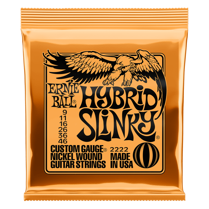 Earnie Ball Hybrid Slinky Nickel Wound Electric Guitar Strings - 9-46 Gauge