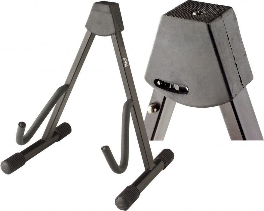 Stagg Foldable A-frame Guitar Stand - Black
