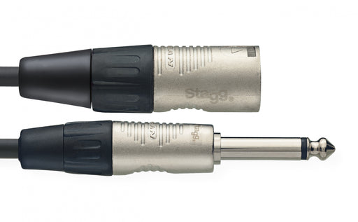 Stagg N Series - Mono 1/4 Inch Jack to XLR Male Audio Cable - 3ft