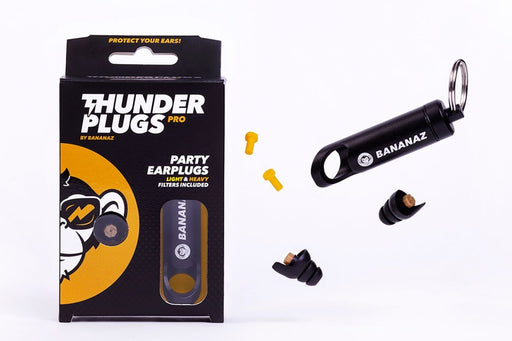 Bananaz Thunderplugs Pro - Party Ear Plugs for Musicians Inc Keychain Case