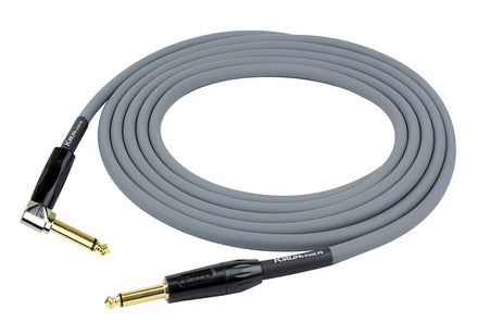 Kirlin Stage Series Instrument Cable - Straight to Angled - 10ft - Grey