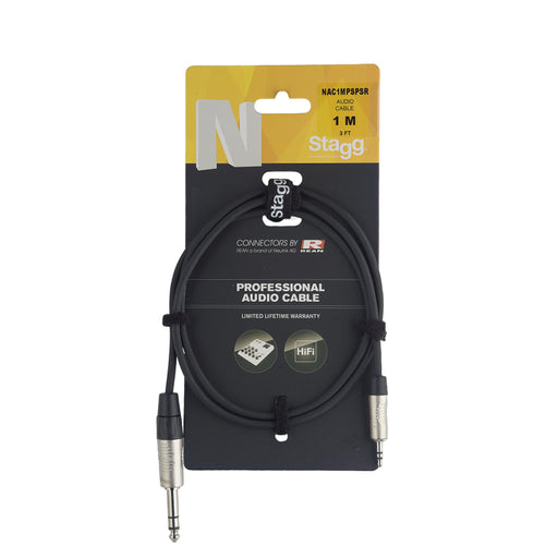 Stagg N Series - Stereo Mini Jack to Stereo 1/4 Inch Jack Cable - 3ft