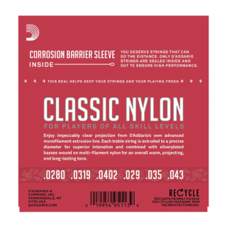 D'Addario Classics Classical Guitar Strings - EJ27N - Normal Tension