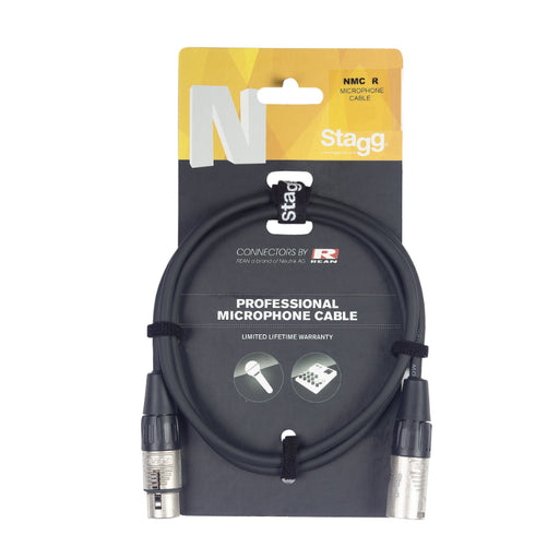 Stagg N Series - Male XLR to Female XLR Microphone Cable - 3ft