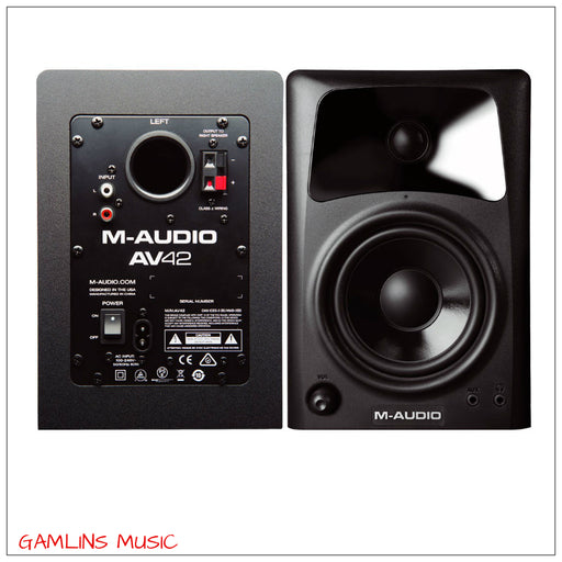 M-Audio AV42 Active Desktop Monitor Speakers Pair