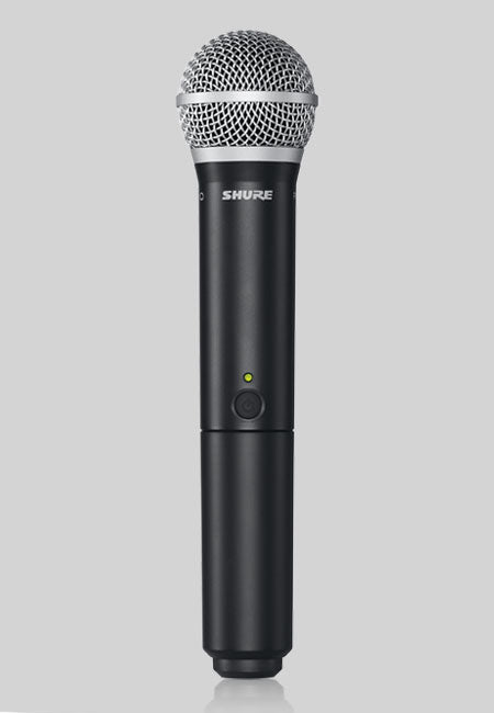Shure BLX24UK/PG58-K3E Handheld Wireless Microphone System