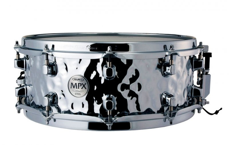 Mapex MPX Snare 14 inches x 5 inches Hammered Steel Shell Snare Drum