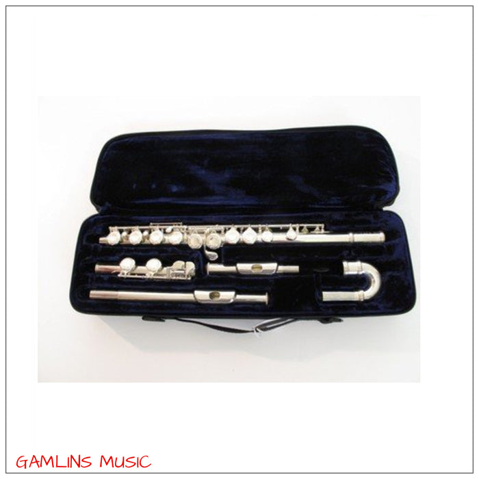 T.James Vivace 3FKV-CDE Curved Head Flute Outfit - Silver Plate