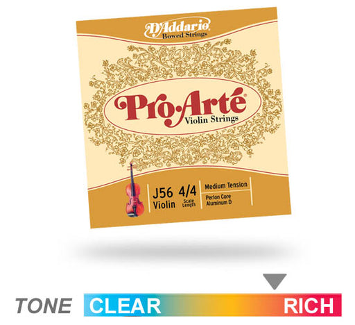 D'addario J 56 Pro-Arté Violin 4/4 Scale Medium Tension String