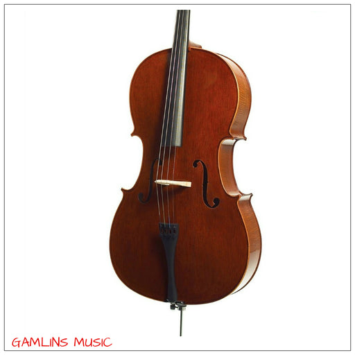 Prima C-280 Pro 4/4 Cello Oufit Includes Gig Bag, Rosin & Bow