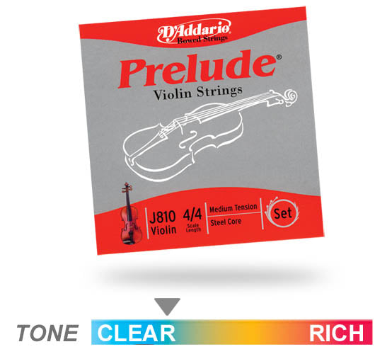 D'addario J810 Prelude Violin 4/4 Scale Medium Tension Violin String