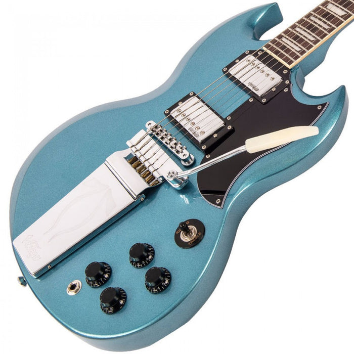 Vintage VS6 ReIssued - Vibrola Tailpiece - Gun Hill Blue