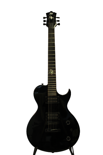 SX PGG SC Scorpion Electric Guitar - Black