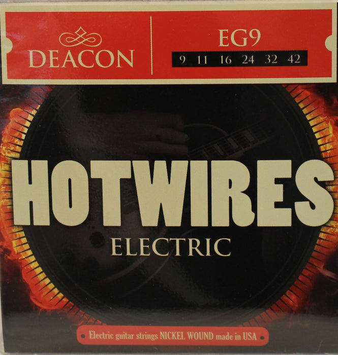 Deacon Hotwires Electric Guitar Strings - EG9 - 9-42