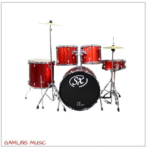 SX 5 Piece Drum Kit - Red