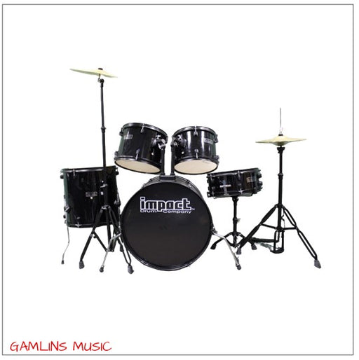 Impact Drum Co. 5 Piece Drum Kit - Black