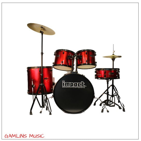 Impact Drum Co. 5 Piece Drum Kit - Red