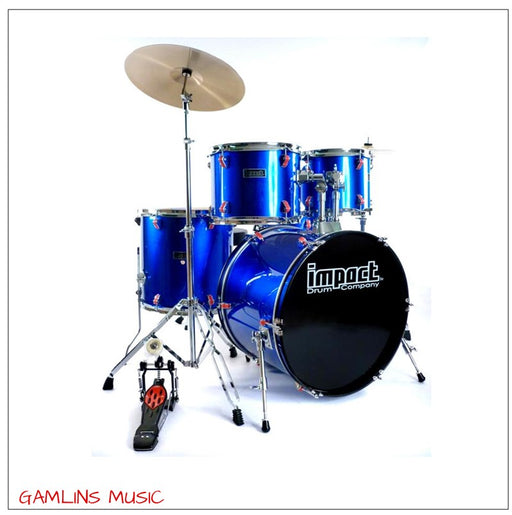 Impact Drum Co. 5 Piece Drum Kit - Blue