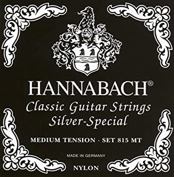 Hannabach 815 Silver Special Classical Guitar Strings - Medium Tension