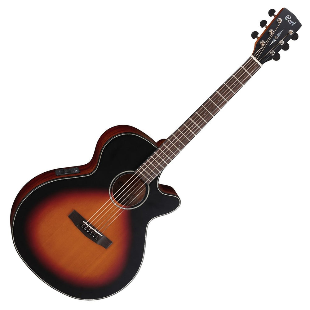 Cort MRE 3TS Electro Acoustic Dreadnought Guitar - Sunburst