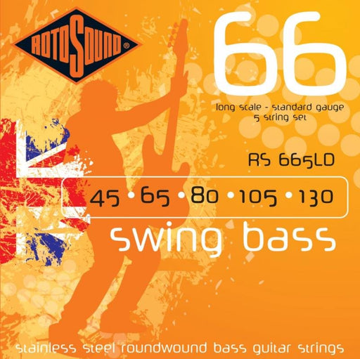 Rotosound RS665LD Swing Bass 66, Long Scale, Standard, 5-String, 45-130