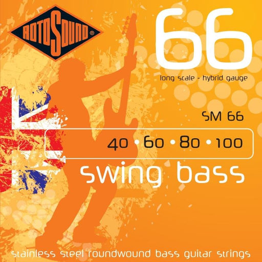 Rotosound SM66 Swing Bass 66, Long Scale, Hybrid, 40-100