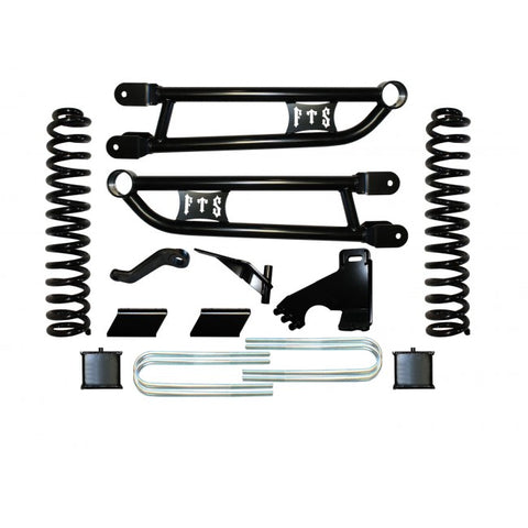 "2008-2013 FORD F250 6"" RADIUS ARM KIT W/ REAR BLOCKS"