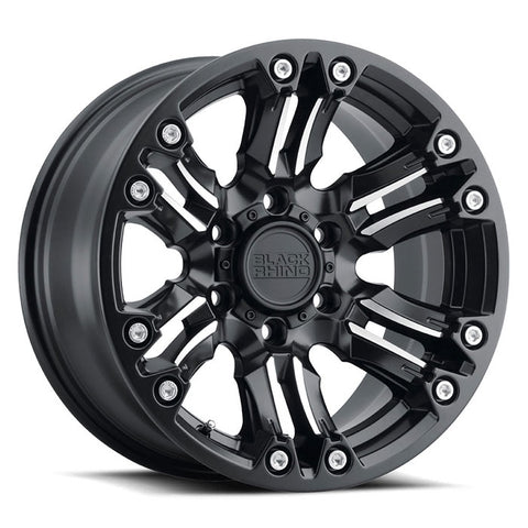 BLACK RHINO ASAGAI MATTE BLACK W/MACHINED SPOKE & STAINLESS BOLTS