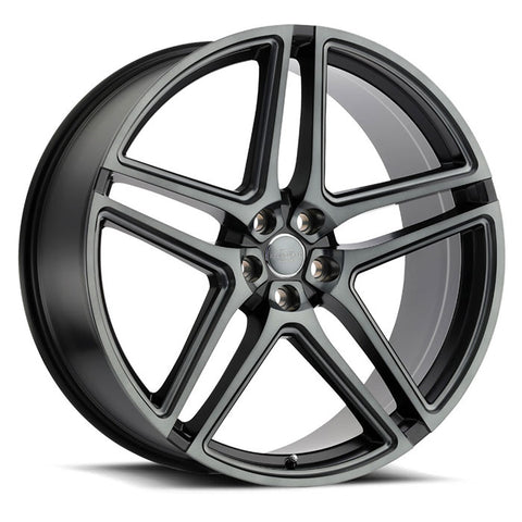 REDBOURNE CROWN MATTE BLACK W/ MACHINE FACE- BALL MILLED SPOKE- & TRANSLUCENT CLEAR TINT