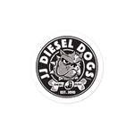 Diesel Dog Sticker - Round Logo - 3x3