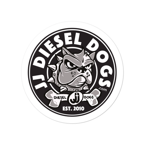 Diesel Dog Sticker - Round Logo - 4x4