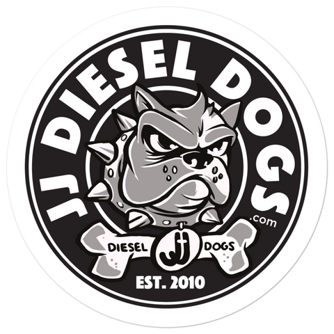 Diesel Dog Sticker - Round Logo - 5.5x5.5