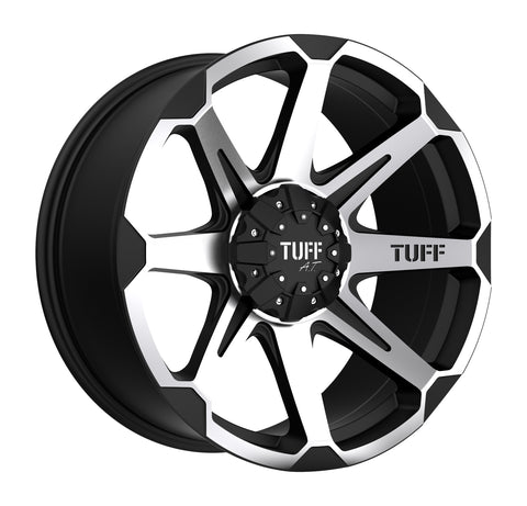 TUFF T05 FLAT BLACK W/ MACHINED FACE