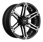 TUFF T01 FLAT BLACK W/ MACHINED FACE AND CHROME INSERTS