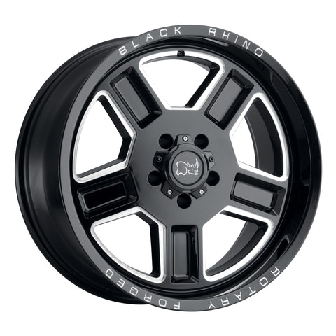 BLACK RHINO CANON GLOSS BLACK W/MILLED SPOKE