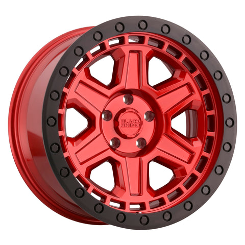 BLACK RHINO RENO CANDY RED W/ BLACK LIP EDGE & BLACK BOLTS