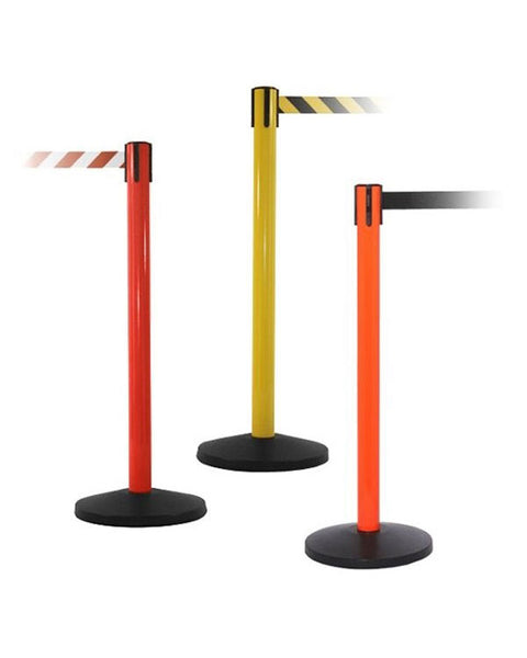 Yellow, Red & Orange Barrier with 11' Retractable Belt - QU900