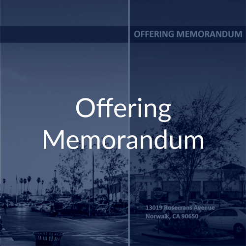 Commercial Real Estate Offering Memorandum