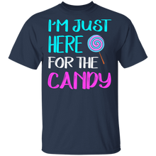 Load image into Gallery viewer, I'm Just Here For Candy T-shirt