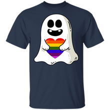 Load image into Gallery viewer, Gift Halloween - Baby Ghost Hug LGBT Heart T-Shirt