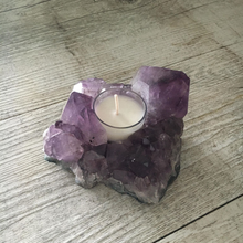 Load image into Gallery viewer, Amethyst Candle Holder