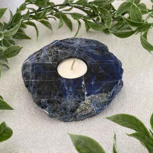Sodalite Candle Holder - Blue