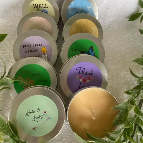 Affirmation Travel Tin Candles