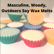 Load image into Gallery viewer, Masculine, Woody and Outdoors Scented Soy Wax Melts