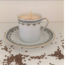 Load image into Gallery viewer, Espresso Cup and Saucer Soy Wax Candle