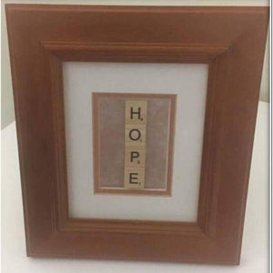 Scrabble HOPE - UP-CYCLED Picture Frame
