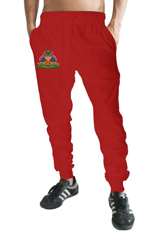 Haiti Coat of Arm logo Red Jogger