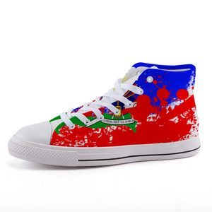Splash Haitian Flag High-top shoes