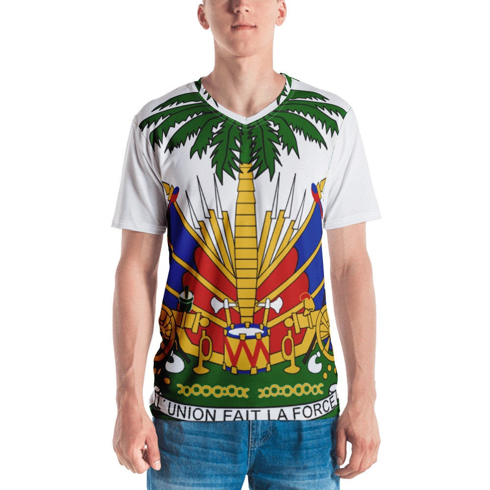 Coat Of Arm Haitian Flag Men's T-shirt