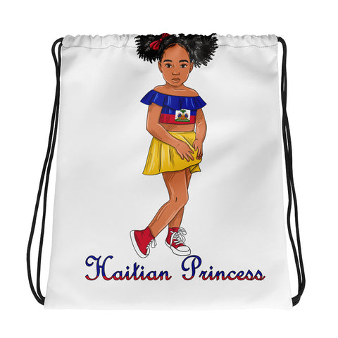 Little Girl Haitian Princess Drawstring bag